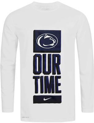 NIKE - Penn State Nike Men's Dri-Fit Basketball Bench Long Sleeve T-Shirt