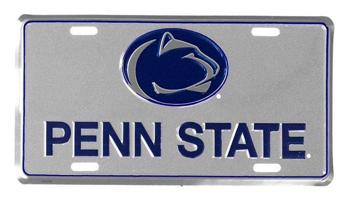 Penn state nittany lions 3d license plate souvenirs for Lifetime fishing license ny