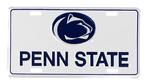 Penn State Nittany Lions 3D License Plate WHITE