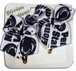 2 Pack Snap Clip Ribbon Bow