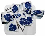 Penn State Paws 2-pack Snap Clip Bows WHITENAVY