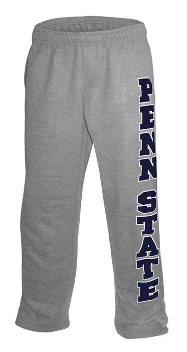 Penn State Down Leg Open Bottom Adult Sweatpants Mens