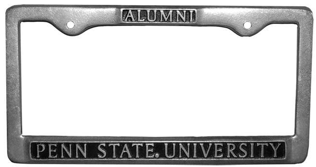Penn State Alumni Car Frame | Souvenirs > CAR ACCESSORIES > LICENSE ...