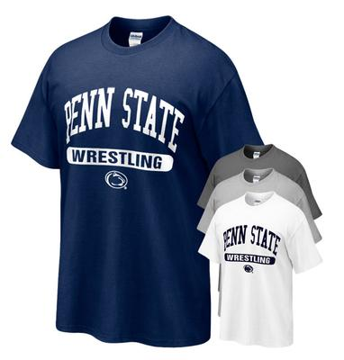 The Family Clothesline - Penn State Tshirt with Wrestling Oval Print