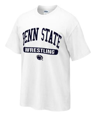Penn State Tshirt with Wrestling Oval Print WHITE