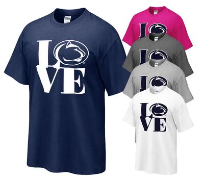 The Family Clothesline - Penn State Love Logo Adult T-shirt
