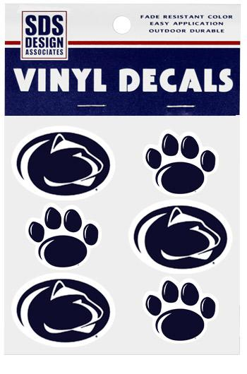 Penn State Paw And Logo Decal Sheet Souvenirs Gt Stickers