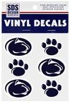 Penn State Paw and Logo Decal Sheet