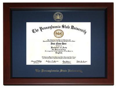 Church Hill - Penn State University Embossed Alumni Diploma Frame