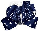 Navy Blue Queen Polka Dot Bow