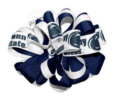 Divine Creations - Penn State Medium Loop Bow