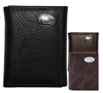 Zeppelin Products - Penn State Tri-Fold Leather Concho Wallet