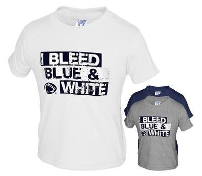 The Family Clothesline - Penn State I Bleed Blue & White Toddler T-Shirt