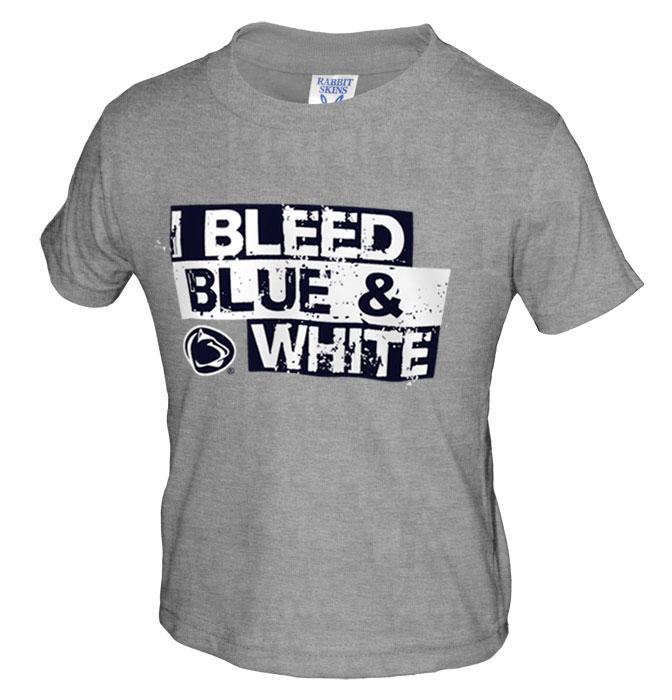 Penn State I Bleed Blue & White Toddler T Shirt