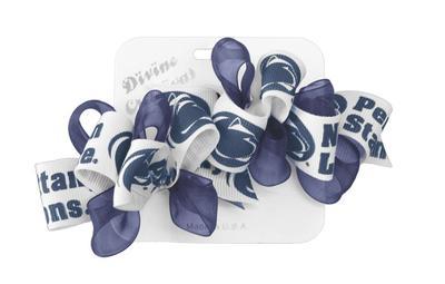 Divine Creations - Penn State 2 Pack Logo Organza & Ribbon Bows