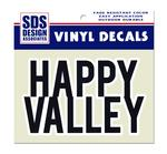 Block Happy Valley Decal NAVYWHITE