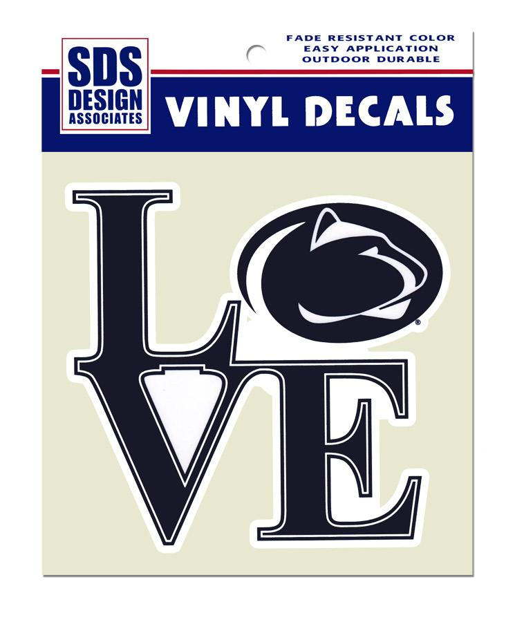 Penn State Large Love Logo Decal Souvenirs Gt Stickers