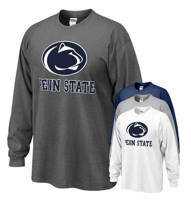 The Family Clothesline - Penn State Logo Block Adult Long Sleeve T-shirt