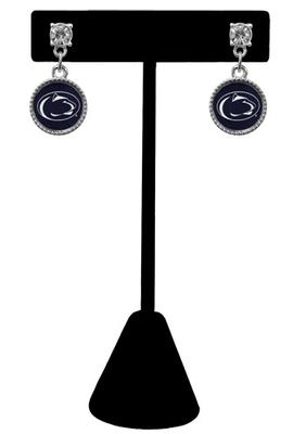 From The Heart - Penn State Circle Post Logo Earrings