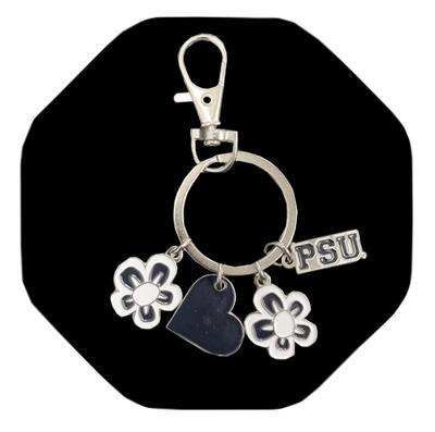 Neil Enterprises - Penn State Circle Logo and Charm Keychain