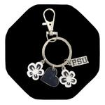 Penn State Circle Logo and Charm Keychain