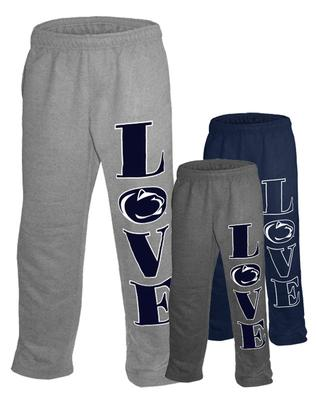 The Family Clothesline - Penn State Big Love Open Bottom Adult Sweatpants