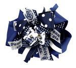 Penn State Large Ribbon Layered Bow