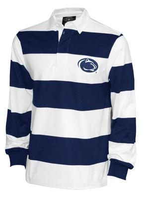 The Family Clothesline - Penn State Rugby Striped Adult Long Sleeve Polo