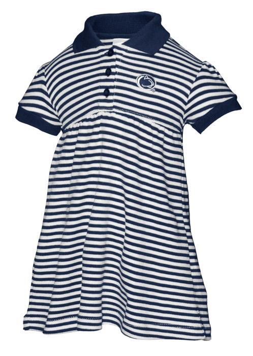 Penn State Infant Striped Logo Dress