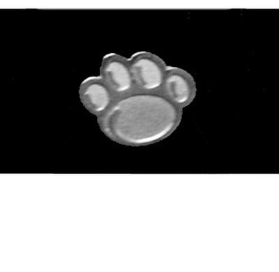PENN STATE MINI NEW PAW SILVER EARRING