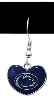 PENN STATE HEART DANGLE EARRINGS